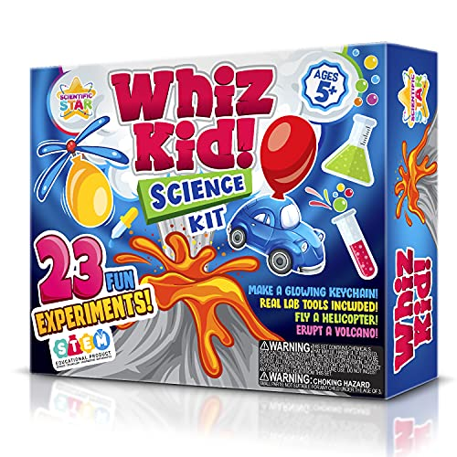 Science Set for Kids- Over 20 Science Experiments , Including Volcano Science kit , Polymer Beads & More