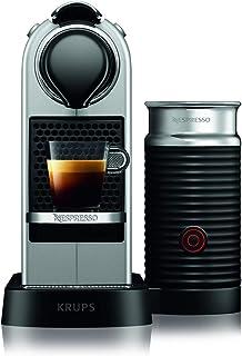 Nespresso Krups Citiz XN760B - Cafetera monodosis de cápsulas Nespresso con aeroccino, compacta, 19 bares, apagado automát...
