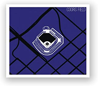 Cool Modern Art showcasing Colorado's Coors Field Printed on Poster Paper. Wall Décor for Your Living Room, Office, Den, Bedroom, etc. from Tube to Wall in Minutes.