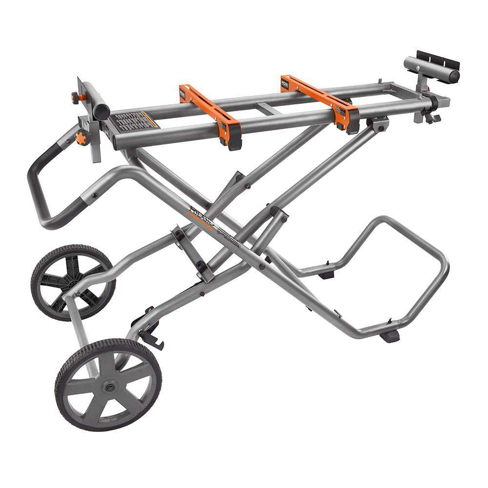 Rolling Miter Saw Stand with Wheels - Ridgid 9946