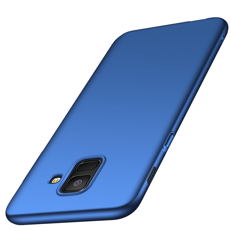 anccer Funda Samsung Galaxy A6 [Serie Colorida] [Ultra-Delgado] [Ligera] Anti-rasguños Estuche para Samsung Galaxy A6 2018 (No Apto para Galaxy A6 Plus)-Azul Liso: Amazon.es: Electrónica