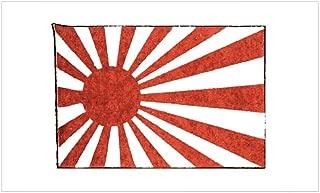 CafePress Vintage Japanese WWII Naval Flag Sticker (Rectangu Rectangle Bumper Sticker Car Decal