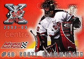 (CI) Scott Clemmensen Hockey Card 2002-03 Albany River Rats AAP 7 Scott Clemmensen