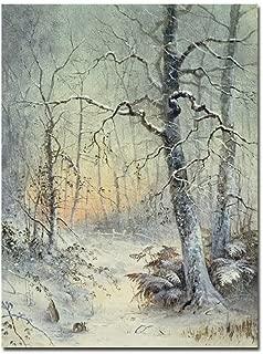 Winter Breakfast by Joseph Farquharson, 18x24-Inch Canvas Wall Art
