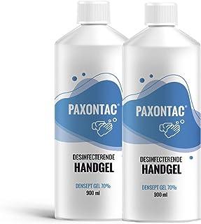Paxontac Desinfecterende Handgel - 900 ml navulling 2x- Droogt snel en plakt niet - Hygiënische Alcohol gel - Grootverpakking