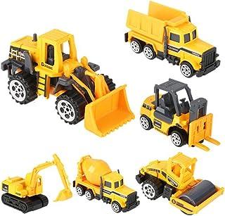 rongweiwang 6 delar leksaksbilmodeller barn simulering konstruktion fordonsmodell teknik fordon grävmaskin lastbil leksak ...