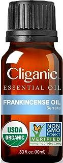 Cliganic USDA Organic Frankincense Essential Oil - Boswellia Serrata, 100% Pure Natural Undiluted, for Aromatherapy | Non-...