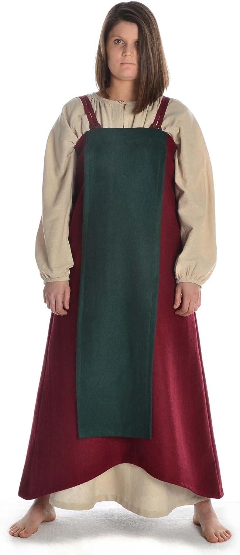 Hemad medieval Viking women's overdress, wool felt, SXXXL
