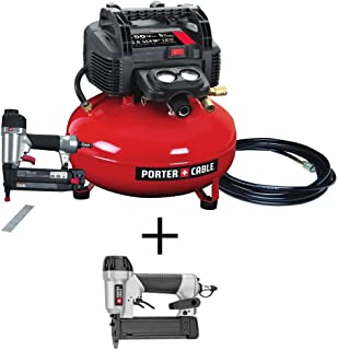 Portable Electric Air Compressor and 18-Gauge Brad Nailer