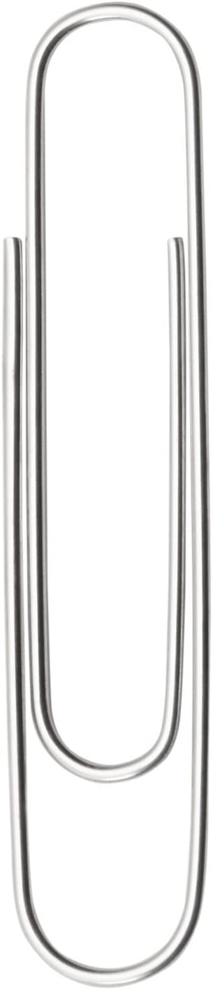 ACCO Jumbo Paper Clips, Non-Skid, Premium, Steel Wire, 20 Sheet Capacity, Silver, 1 Box of 100 Clips (A7072510) : Office Products