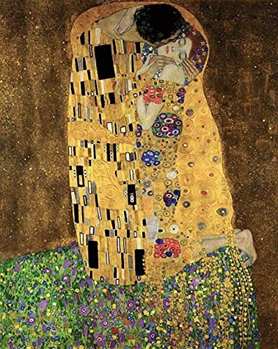 Casual moeilijkheidsgraad,legpuzzels uit de beroemde collectie voor volwassenen Museum Olieverf: Jigsaw of The Kiss daag jezelf uit met een puzzel van 1000 stukjes