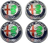 4 tapas para tapacubos de Alfa Romeo Giulietta 159 146 157 Brera para llantas de 60 mm