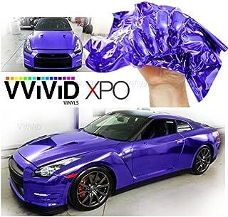 Sponsored Ad - VViViD SuperCast Purple Conform Chrome Metallic Finish Stretch Vinyl Wrap Film Decal Sheet Roll (1/2ft x 5ft)