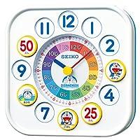 セイコー クロック 掛け時計 置き時計 兼用 知育 ドラえもん アナログ 白 CQ319W SEIKO