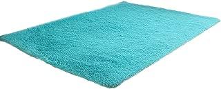 Flurries 👍 Rectangle Shape - Non-Slip Soft Plush Coral Fleece Plain Area Rugs - Shaggy Chair Cover Couch Sofa Seat Pad Mat Cushion Carpet Blanket - Home Decorator Bedroom Floor Bathroom Den
