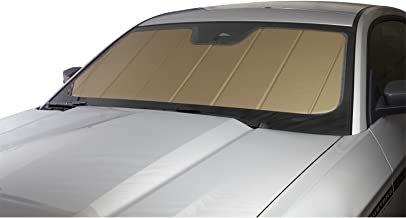 Covercraft UVS100 - Series Heat Shield Custom Fit Windshield Sunshade for Select Dodge Challenger Models  - Laminate Material (Gold)