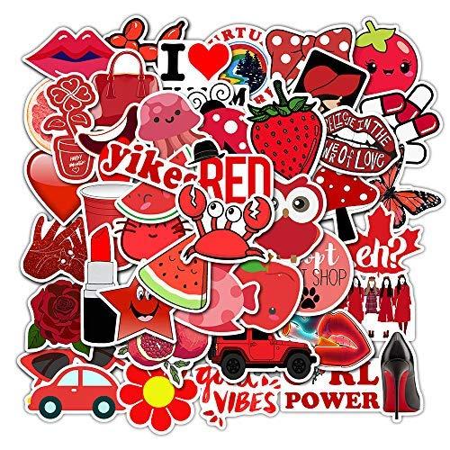 JZLMF Pegatinas decorativas para bolso (serie roja 5) (Az034)