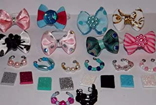 Clothes: 2bow 2collar 2Phone for/fits Littlest pet shop cat/accessories for LPS-CAT NOT INCLUDED