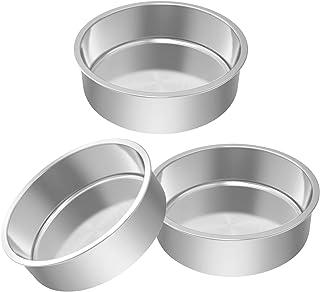 4//6//8//10inch Round Cakes Tin Loose Base Bottom Deep Baking Pans Tier Wedding UK