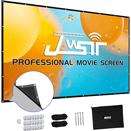 Projector Screen 150 inch, Premium 3 Layers PVC 150 inch 16:9 HD Portable Projector Screen, Premium Indoor Outdoor Movie Screen Anti-Crease Projection Screen for Home Theater Backyard Movie