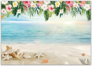 Allenjoy 7x5ft Tropical Beach Photography Backdrop Hawaii Summer Birthday Luau Party Photo Background Baby Shower Banner Photobooth Props