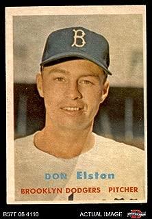 1957 Topps # 376 Don Elston Brooklyn Dodgers (Baseball Card) Dean's Cards 5 - EX Dodgers