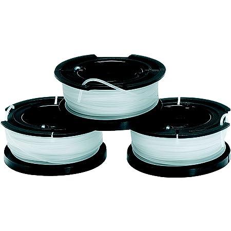 BLACK+DECKER Pack de 3 Bobinas de Hilo Reflex Simple para Cortabordes de Cesped 10m x 1.5mm A6485-XJ