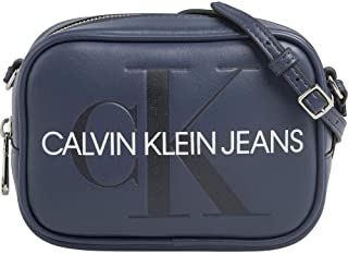 Calvin Klein Sculpted Monogram Camera Bag, Women's Laptop Blue (Washed Blue), 8x12x17 cm (B x H x T)