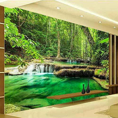 HGFHGD Papel tapiz fotográfico 3D autoadhesivo, paisaje de bosque verde, Mural grande, sala de estar, dormitorio, fondo, pintura de pared, adhesivo para pared, arte