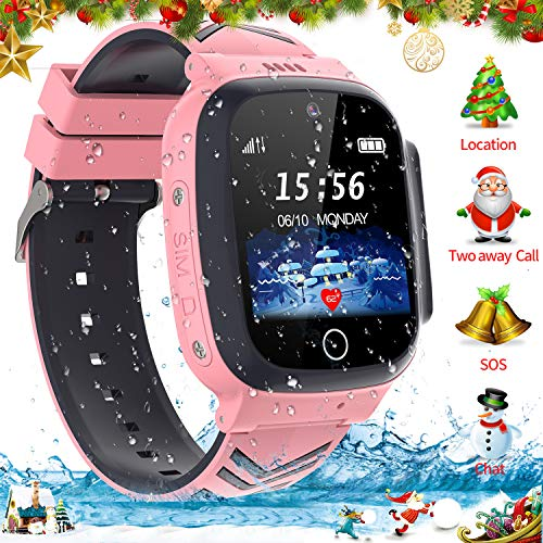 Kinder SmartWatch Phone Smartwatches mit SOS Voice Chat Kamera Taschenlampe Wecker Digitale Armbanduhr Smartwatch Girls Boys Birthday