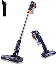 Orfeld Cordless Vacuum Cleaner, 2 in 1 Stick Vacuum Cleaner with 16 kPa Powerful Suction, Up to 50 Minutes Autonomy for Home and Car Cleaning - Blue