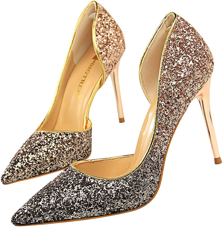 Glitter Lady Dress shoes Women Pumps Heels Festival Party Wedding shoes Stiletto High Heels Formal Pumps AMB059