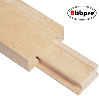 Btibpse Wooden Drawer Slides 40cm Classic Wood Center Guide Track (15-3/4'')