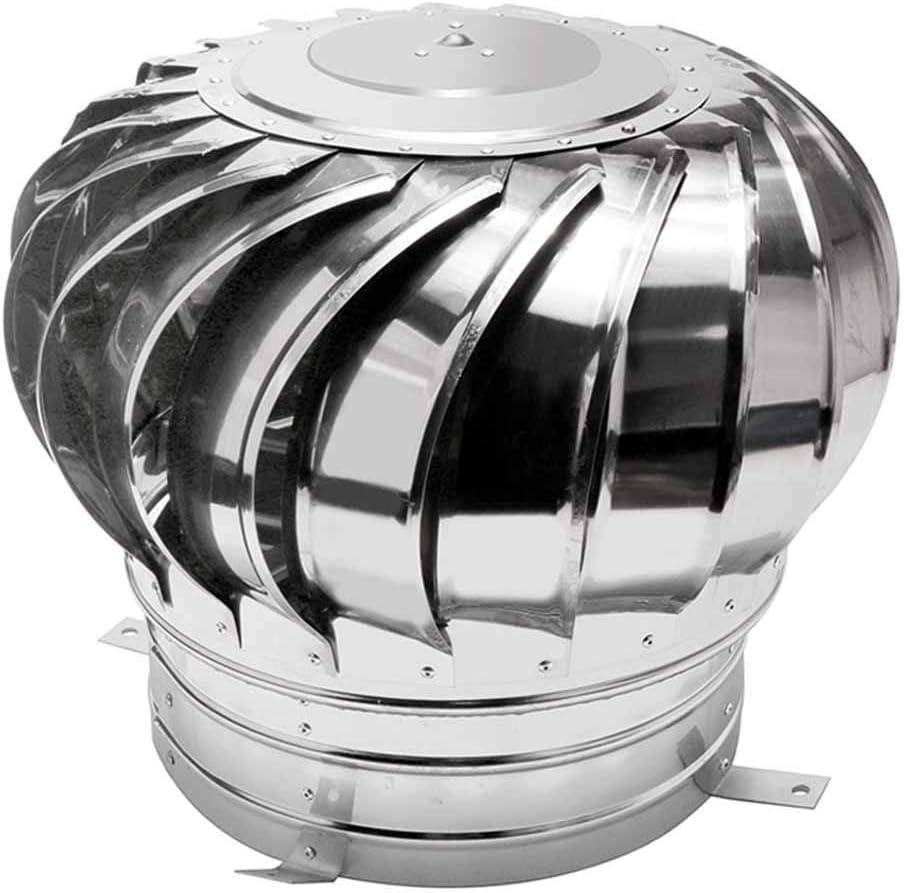 LTLCBB Sombrero Extractor Giratorio, Ventilador La Turbina Soplador,Acero Inoxidable Sin Poder Escape Tapa De Ventilación Ventilador Ahorro De Energia Buhardilla Granja La Fábrica,500mm