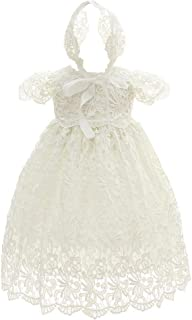Coozy Baby Girl Special Occasion Dress 2PCS Christening Baptism Gowns Girls Hollow Long Dress