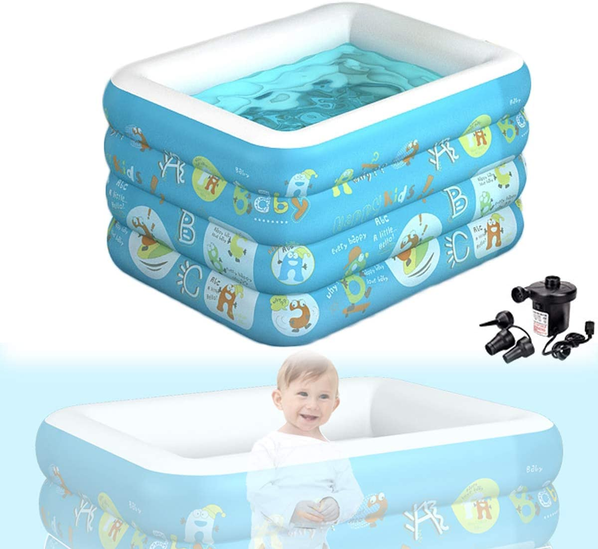 HIMNA PETTR Infant Inflatable Pool Swimming Virginia Beach Mall Max 46% OFF Household Thickened