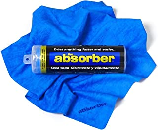 "CleanTools 42149 The Absorber Synthetic Drying Chamois, 27"" x 17"", Blue"