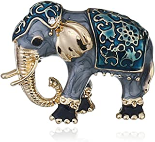 European and American popular high-end clothing accessories temperament cloisonne pin cute animal elephant brooch