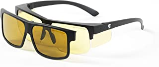 Eagle Eyes Optics Men's Speed Of Life 2In1 Day/Night Fit-Over Style Magnetic Eyewear System Glasses, Black, 62 Mm