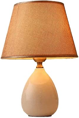 Quality Bedside Lamp Table Lamp Desk Table Light Bedside Lamp Living Room Table Lamp Brown Lampshade Ceramic Lamp Body Warm Table Lamp Night Light Nightstand Lamps nightstand Lamps