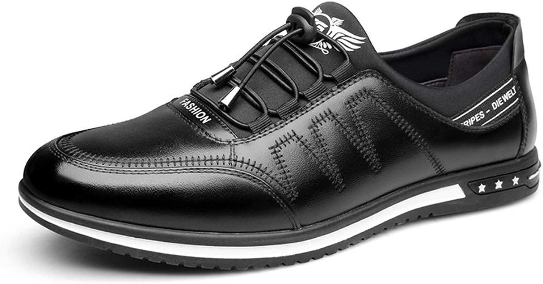 EGS-schuhe Driving Loafers for Mnner Wasserdicht Atmungsaktiv Einfarbig Casual Lederschuhe Business Wild Single Schuhe Hochzeitsschuhe Flut Schuhe,Grille Schuhe (Farbe   schwarz, Größe   40 EU)