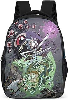 Anime Mochila infantil Rick and Morty Erkunde la Monsterburgo Mochila escolar Mochila de guardería Mochila de guardería Mochila de libros Gris gris talla única