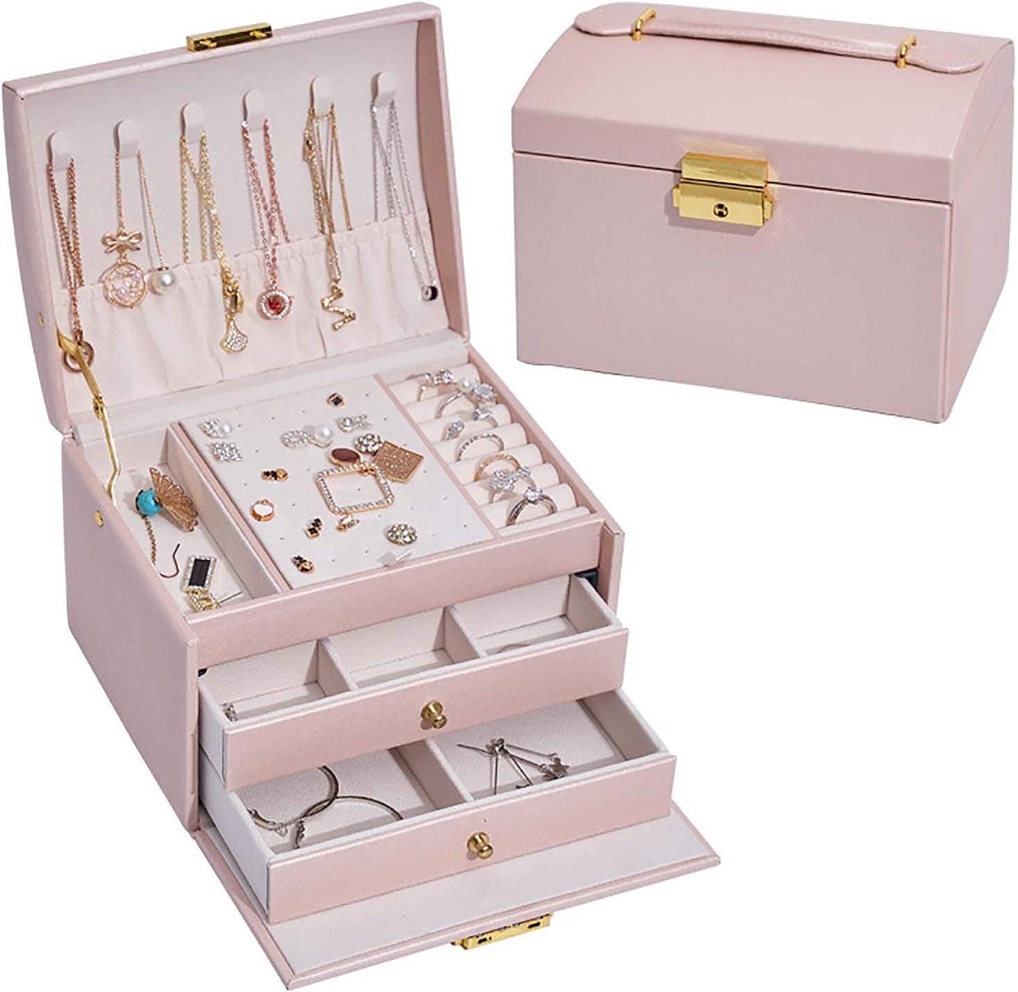 quality assurance erddcbb Jewellery Box Organiser 2 Spasm price Three with Drawers