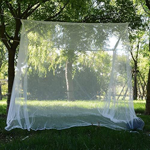 Kaptin groot muggennet, bed luifel voor tweepersoonsbed, camping & terras muggennet, fijne gaten netgordijn met opknoping kit en draagtas voor binnen en buiten