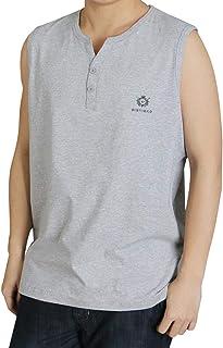 [ジンニュウ] メンズ タンクトップ ノースリーブ トップス おしゃれ 大きいサイズ 夏服 ファッション