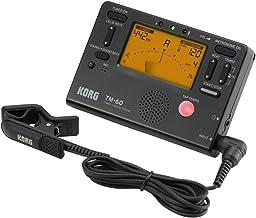 تنظیم کننده Korg TM60BK و Metronome Combo با کلیپ روی میکروفون (سیاه)