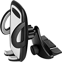 Car Phone Mount, CD Slot Car Phone Holder, Car CD Player Phone Mount with One-Touch Design Compatible for iPhone 11 Pro Xs Max XR X 8 7 6S Plus Galaxy S10+ S9 N9 S8 S7 S6 Google Pixel LG Nexus