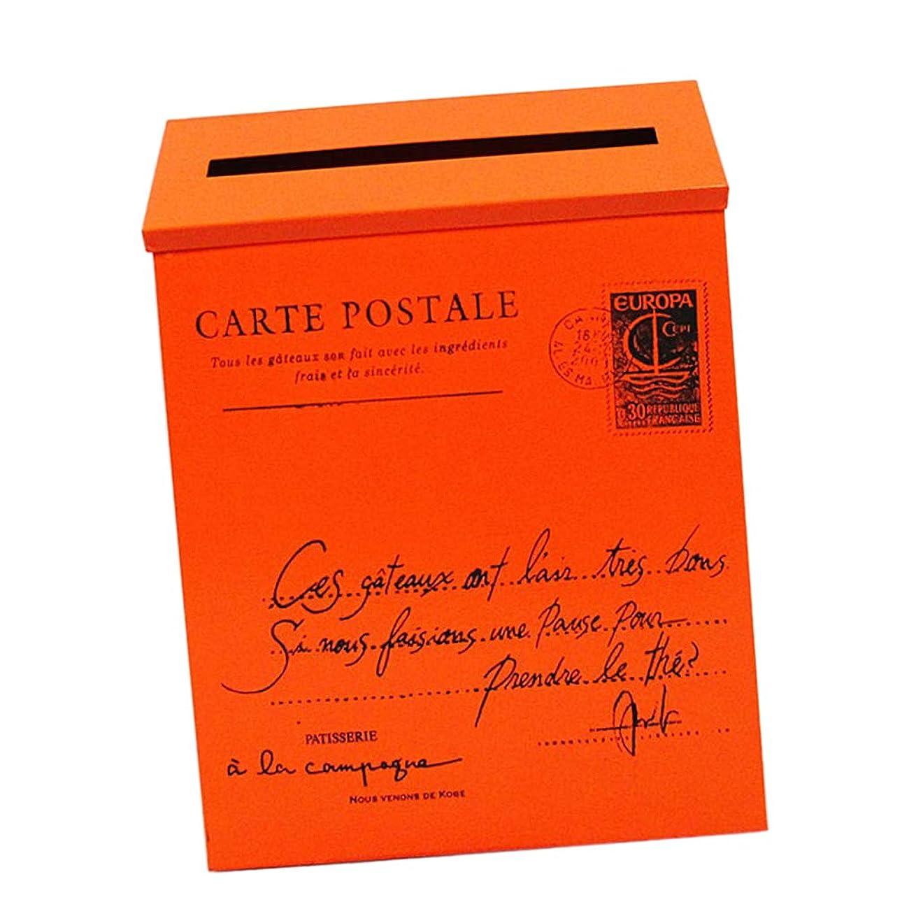 確執古い赤外線FLAMEER ヴィラ壁掛け手紙ポストボックスポストボックスレターボックスメールボックス雑誌ホルダーボックス - ホームオフィス使用 - オレンジ