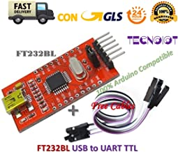 TECNOIOT FT232BL USB to TTL FT232 5V 3.3V Download Cable to Serial Adapter Module + Cable