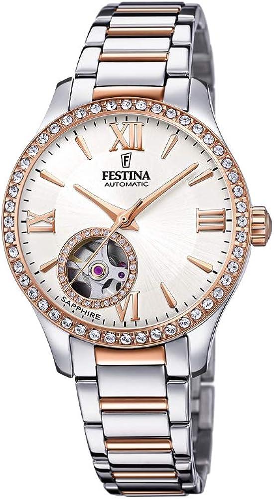 Festina orologio automatico da donna in acciaio inossidabile F20487/1